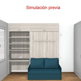 Salón con librería 8